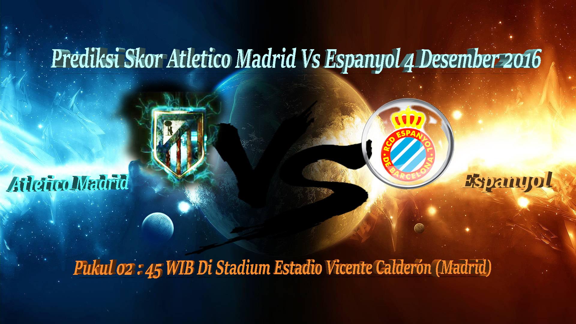 Prediksi Pertandingan Atletico Madrid Vs Espanyol