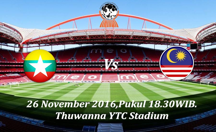 Prediksi Myanmar vs Malaysia 26 November 2016