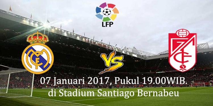 Prediksi Real Madrid vs Granada 07 Januari 2017
