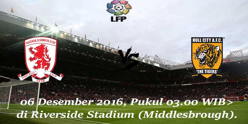 Prediksi Middlesbrough vs Hull City 06 Desember 2016
