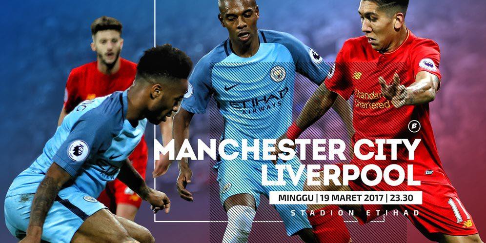 Prediksi Manchester City vs Liverpool 19 Maret 2017