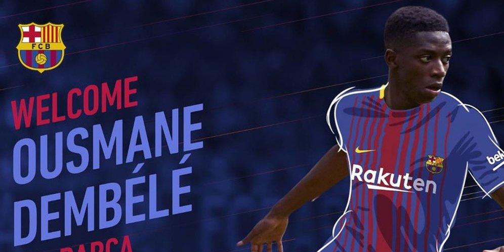 Barcelona Resmi Gaet Dembele dari Dortmund