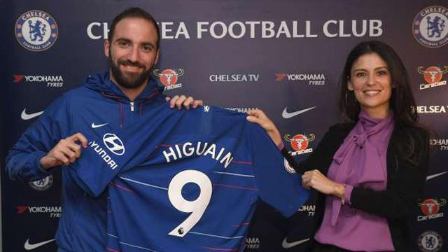 Higuain ke Chelsea: Sejarah Singkat dari Kaos Nomor Sembilan di Stamford Bridge